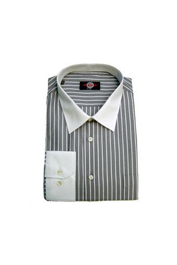 Camisas, Vestir Manga Larga, 104179, GRIS MEDIO