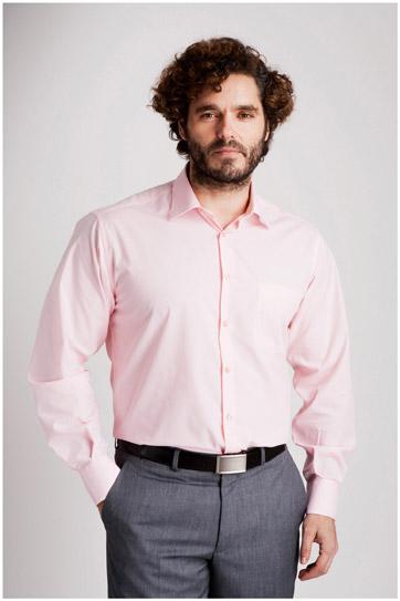 Camisas, Vestir Manga Larga, 104226, ROSA