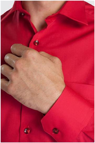 Camisas, Vestir Manga Larga, 104226, RUBI