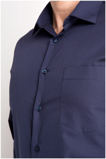 Camisas, Vestir Manga Larga, 104226, MARINO