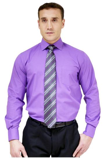 Camisas, Vestir Manga Larga, 104226, MORADO