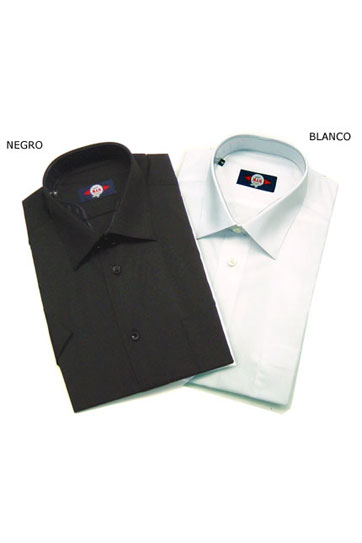 Camisas, Vestir Manga Corta, 104227, NEGRO