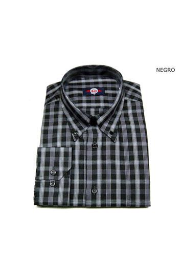 Camisas, Sport Manga Larga, 104602, NEGRO