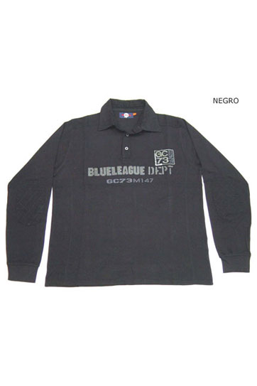 Sport, Polos M. Larga, 104645, NEGRO
