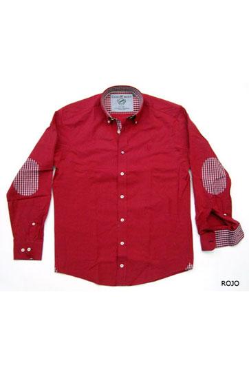 Camisas, Sport Manga Larga, 105340, ROJO