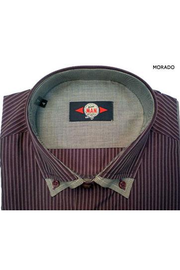 Camisas, Sport Manga Larga, 105358, MORADO