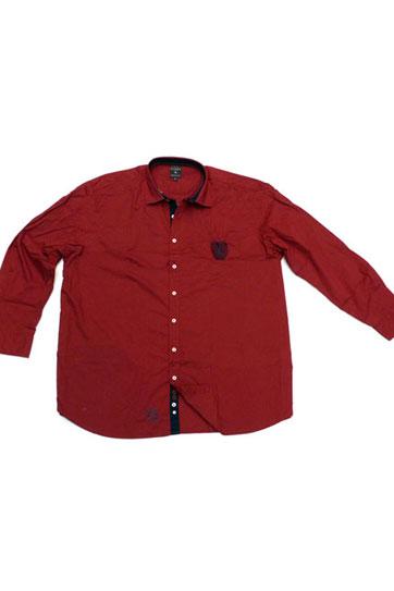 Camisas, Sport Manga Larga, 105843, GRANATE