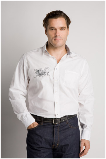 Camisas, Sport Manga Larga, 105992, BLANCO