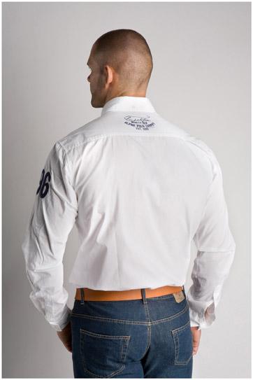 Camisas, Sport Manga Larga, 106352, BLANCO