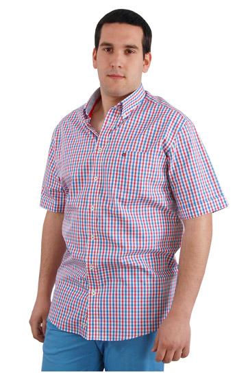 Camisas, Sport Manga Corta, 106424, CELESTE