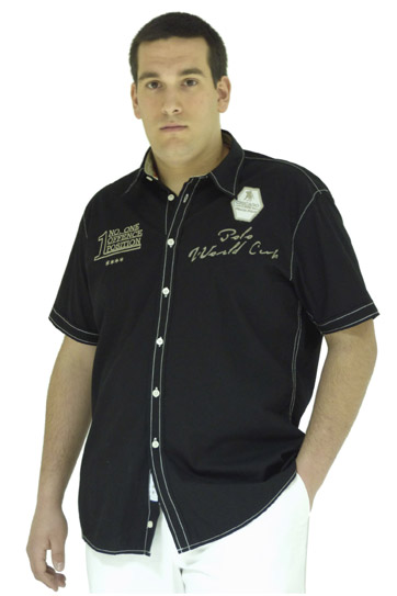 Camisas, Sport Manga Corta, 106545, NEGRO