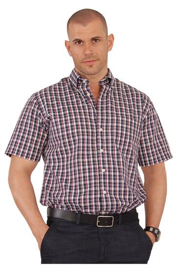 Camisas, Sport Manga Corta, 106568, GRANATE