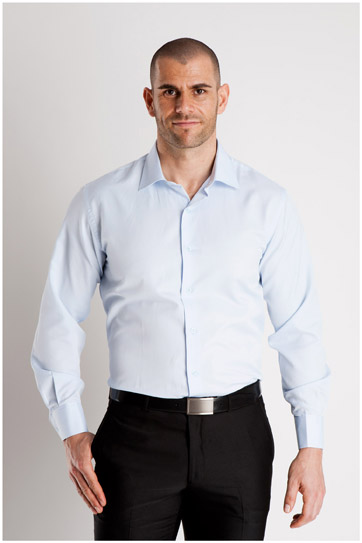 Camisas, Vestir Manga Larga, 106795, CELESTE