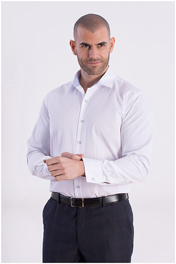 Camisas, Vestir Manga Larga, 106796, BLANCO