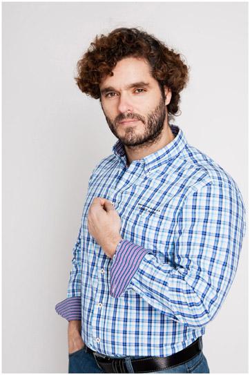 Camisas, Sport Manga Larga, 106918, CELESTE