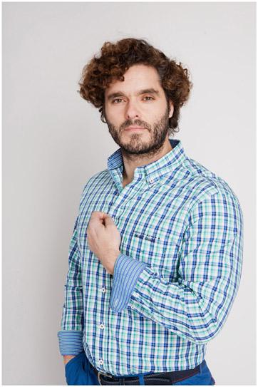Camisas, Sport Manga Larga, 106918, MENTA