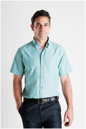 Camisas, Sport Manga Corta, 106931, VERDE