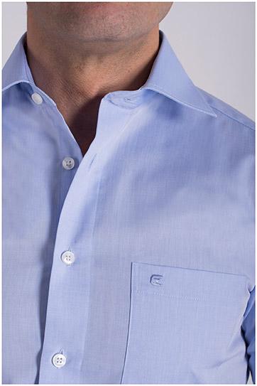 Camisas, Vestir Manga Larga, 106940, CELESTE