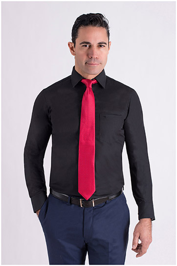 Camisas, Vestir Manga Larga, 106940, NEGRO