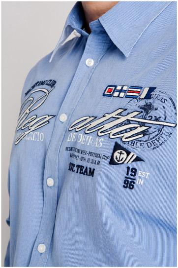 Camisas, Sport Manga Larga, 107008, CELESTE