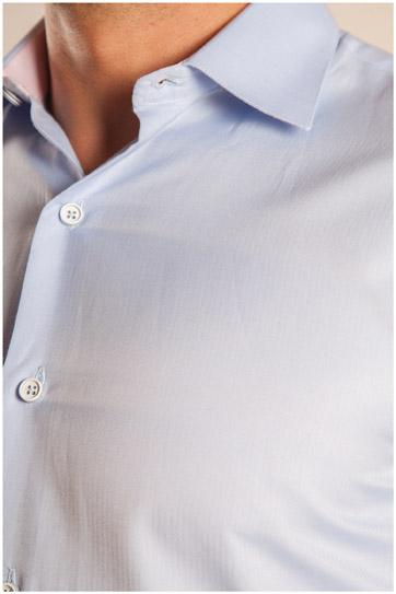 Camisas, Vestir Manga Larga, 107090, CELESTE