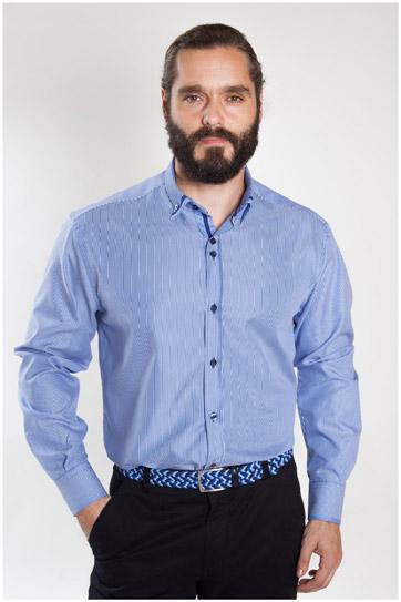 Camisas, Sport Manga Larga, 107155, MARINO