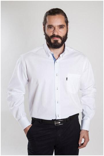 Camisas, Sport Manga Larga, 107186, BLANCO