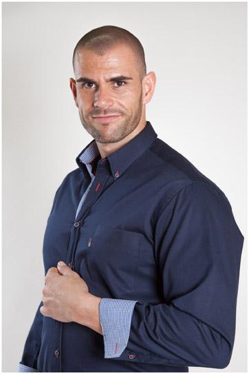 Camisas, Sport Manga Larga, 107186, MARINO