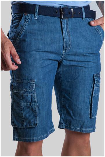 Pantalones, Bermudas, 107307, INDIGO