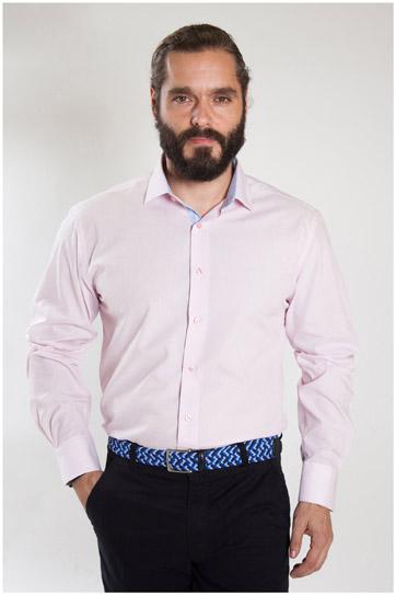Camisas, Vestir Manga Larga, 107324, ROSA