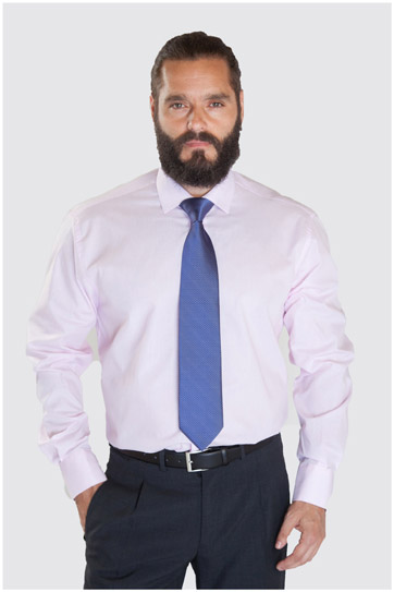 Camisas, Vestir Manga Larga, 107325, ROSA