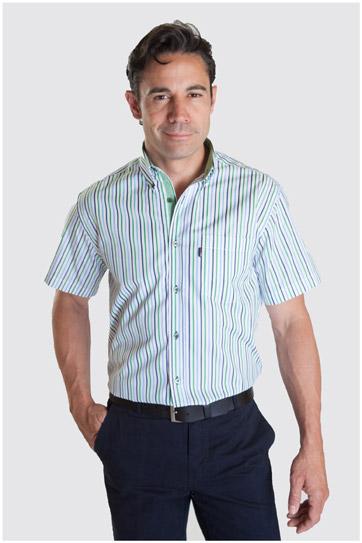 Camisas, Sport Manga Corta, 107334, VERDE