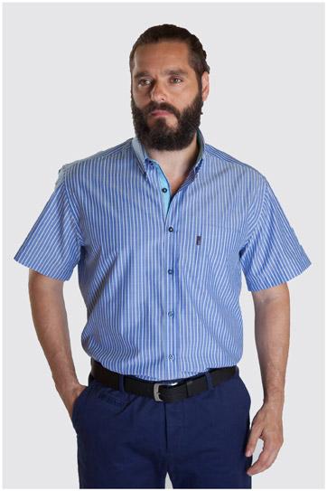 Camisas, Sport Manga Corta, 107335, MARINO