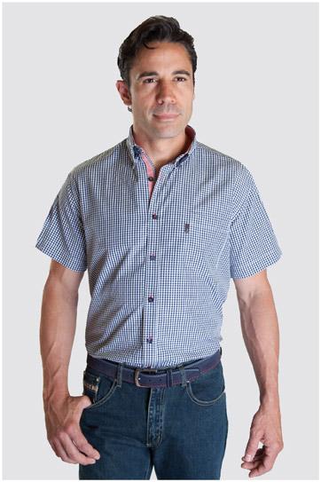 Camisas, Sport Manga Corta, 107337, MARINO