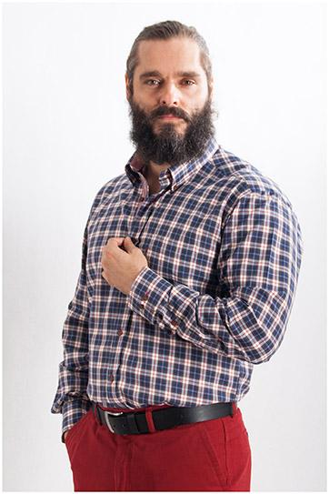 Camisas, Sport Manga Larga, 107747, NOCHE