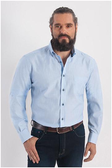 Camisas, Sport Manga Larga, 107795, MARINO