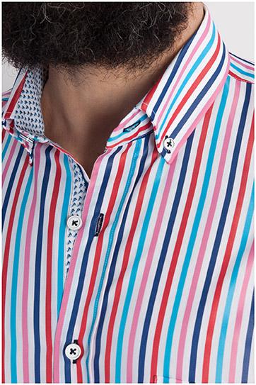 Camisas, Sport Manga Corta, 107818, GRANATE
