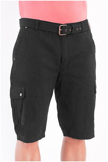 Pantalones, Bermudas, 107882, NEGRO