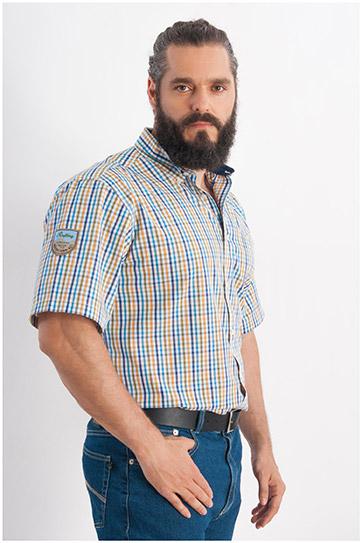 Camisas, Sport Manga Corta, 107930, MOSTAZA