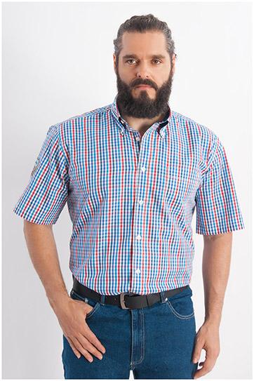 Camisas, Sport Manga Corta, 107930, MARINO