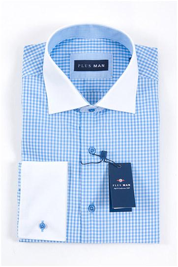 Camisas, Vestir Manga Larga, 107967, CELESTE