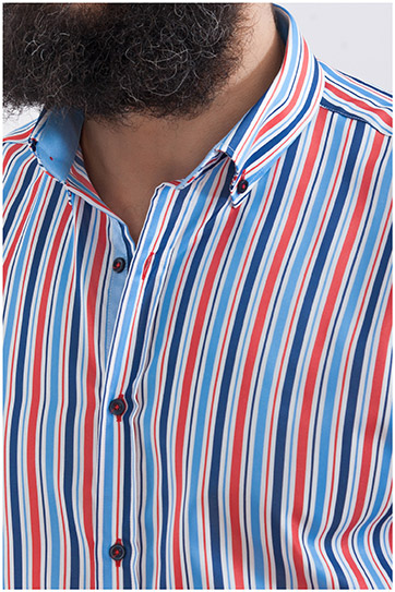 Camisas, Sport Manga Larga, 107970, MARINO