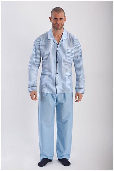 Homewear, Pijama M. Larga, 108014, CELESTE