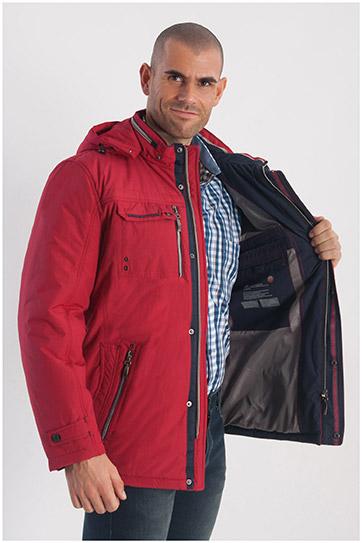 Abrigo, Chaquetones y Piel, 108215, GRANATE