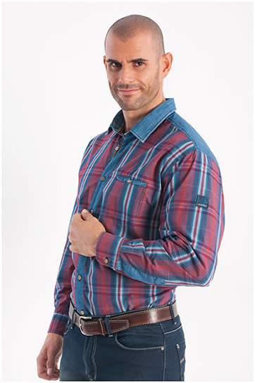 Camisas, Sport Manga Larga, 108241, GRANATE