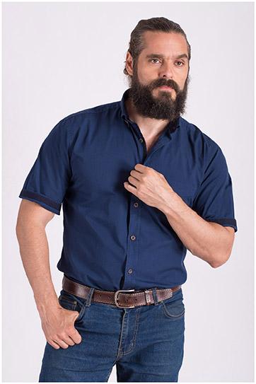 Camisas, Sport Manga Corta, 108426, MARINO