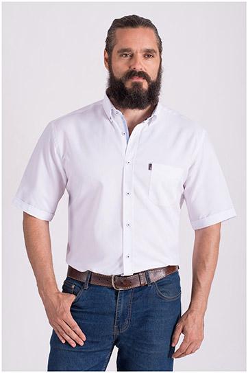 Camisas, Sport Manga Corta, 108428, BLANCO