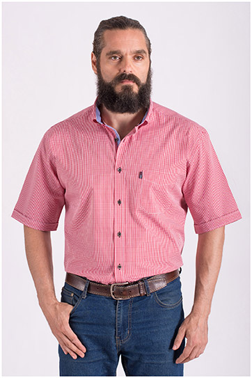 Camisas, Sport Manga Corta, 108430, GRANATE