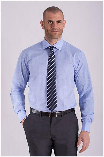 Camisas, Vestir Manga Larga, 108433, CELESTE