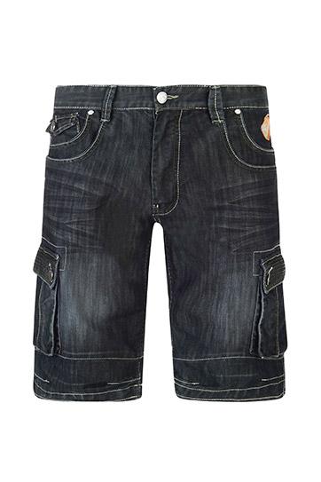 Pantalones, Bermudas, 108487, NEGRO